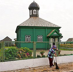 Tatar mosque in the village of Bohoniki, Poland