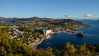 Strand, Norway - View of the village of Tau