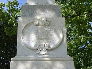 Battle of Tebb's Bend Monument - Monument inscription.