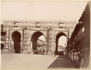 Teen Darwaza - Image: Teen Darwaza 1880s