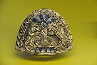 Tell Halaf - Replica of a gold clothing ornament found at Tell Halaf