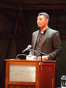 Hayes reading at the Folger Shakespeare Library, 2014