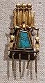 Terzo periodo intermedio, pendente in oro e turchese, 1069-715 ac ca.jpg