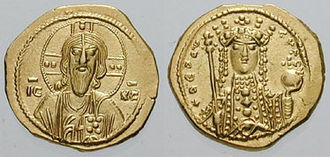 Tetarteron - Gold tetarteron of the sole rule of Empress Theodora (r. 1055–1056).