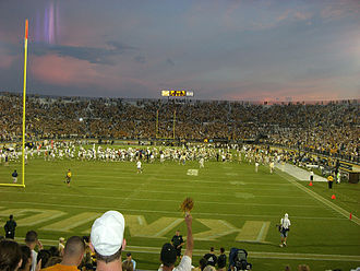 2007 UCF Knights football team - Bright House Networks Stadium at twilight.