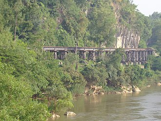 Burma Railway - One of many bridges built by rōmusha and POWs on the railway