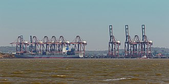 Jawaharlal Nehru Port - JNPT View From Seaside