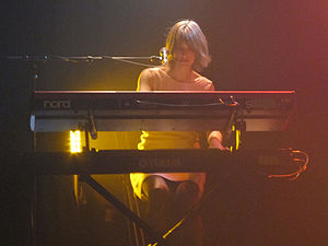 The Jezabels - Heather Shannon on keyboards, April 2011
