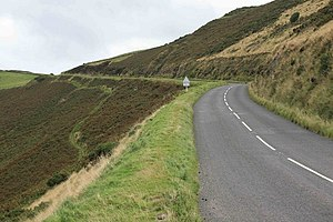 A39 road - The A39 coast road looking towards Porlock