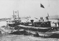 The Canadian Pacific Railway's Locomotive Countess of Dufferin arrives by steamer in Winnipeg, 1877..png