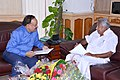 The Chief Minister of Kerala, Shri Oommen Chandy calling on the Union Minister for Health and Family Welfare, Dr. Harsh Vardhan, in New Delhi on July 04, 2014.jpg