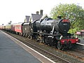 The Dalesman passes through Horton in Ribblesdale station - geograph.org.uk - 966320.jpg