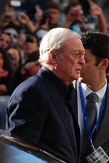 Michael Caine alla prima de Il cavaliere oscuro (2008)