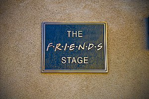 """""""The Friends Stage"""" plaque, outside ..."""