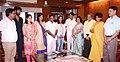 The Indian Wrestler, Sakshi Malik meeting the Union Minister for Railways, Shri Suresh Prabhakar Prabhu, in New Delhi on August 29, 2016.jpg