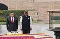 The King of Jordan His Majesty Abdullah II Bin Al-Hussein paying homage at the Samadhi of Mahatma Gandhi, at Rajghat, in Delhi.jpg