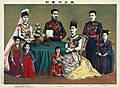 The Meiji Emperor of Japan and the imperial family, by Torajirō Kasai, 1900.jpg