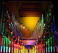 The Mighty Wurlitzer theatre organ pipes with color light 3, Nethercutt Collection.jpg