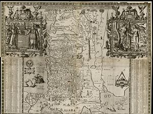 Maps of Ancient Israel - Canaan as it was possessed both in Abraham and Israels dayes with the stations and bordering nations