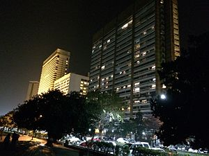 Nariman Point - Nariman point buildings at night.