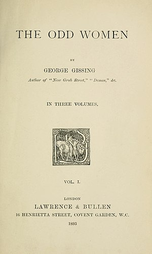 The Odd Women - Title page of the first edition.