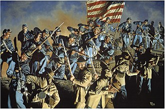 Second Battle of Fort Wagner - Depiction of the battle in the painting The Old Flag Never Touched the Ground