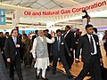 The Prime Minister, Shri Narendra Modi and the Prime Minister of Sweden, Mr. Stefan Lofven at the Make in India Centre, in Mumbai on February 13, 2016 (1).jpg