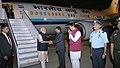 The Prime Minister, Shri Narendra Modi being received by the Governor of Maharashtra, Shri C. Vidyasagar Rao and the Chief Minister of Maharashtra, Shri Devendra Fadnavis, on his arrival at Pune on December 24, 2016.jpg