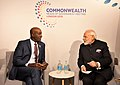 The Prime Minister, Shri Narendra Modi meeting the Prime Minister of Trinidad and Tobago, Dr. Keith C. Rowley, on the sidelines of CHOGM 2018, in London on April 19, 2018 (1).JPG