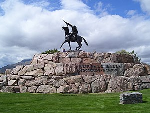 "Cody, Wyoming - ""The Scout"" by Gertrude Vanderbilt Whitney commemorates Buffalo Bill"