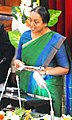 The Speaker, Lok Sabha, Smt. Meira Kumar delivering her speech on 'The Challenges before Parliamentary Democracy' at the concluding ceremony of the 75th year celebrations of West Bengal Legislative Assembly, in Kolkata.jpg