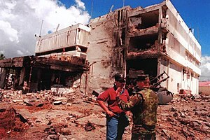 Operation Infinite Reach - The U.S. Embassy in Dar es Salaam, Tanzania, after the August 7, 1998, al-Qaeda bombing