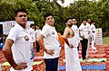 The Union Minister for Railways, Coal, Finance and Corporate Affairs, Shri Piyush Goyal performing Yoga, on the occasion of the 4th International Day of Yoga 2018, in Noida, Uttar Pradesh on June 21, 2018 (1).JPG