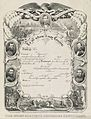 The Union soldier's discharge certificate - Currier & Ives 1865.jpg