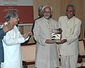 "The Vice President, Shri Mohd. Hamid Ansari releasing a book entitled ""Reconciliation in Post Godhra Gujarat The Role of Civil Society"", authored by Prof. T.K. Oomen, in New Delhi on October 24, 2008.jpg"