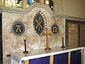 The church of St Andrew in Thelveton - marble reredos - geograph.org.uk - 1764847.jpg