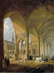 The Cloister of the English Augustinian Convent of Notre-Dame-de-Sion, Paris