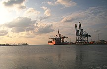 Gibuti-Economia-The container terminal at the Port of Djibouti
