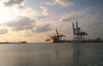 Port of Djibouti - The container terminal at the Port of Djibouti.