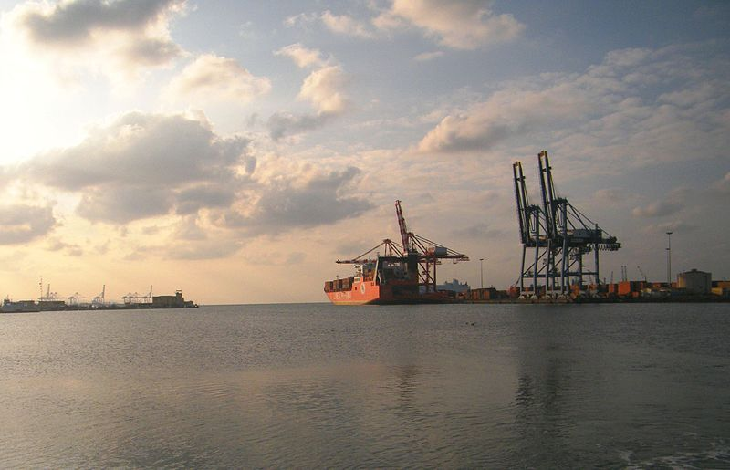 File:The container terminal at the Port of Djibouti.jpg