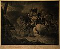 The death of General on the battlefield. Coloured engraving Wellcome V0006907.jpg