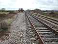 The footpath crosses the track - geograph.org.uk - 106561.jpg