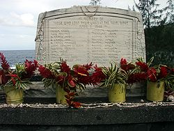Tsunami memorial at Laupahoehoe Point