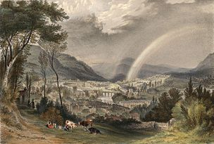 The town and vale of Llangollen