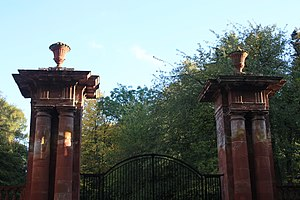 Yester House - The western gate-posts, Yester House