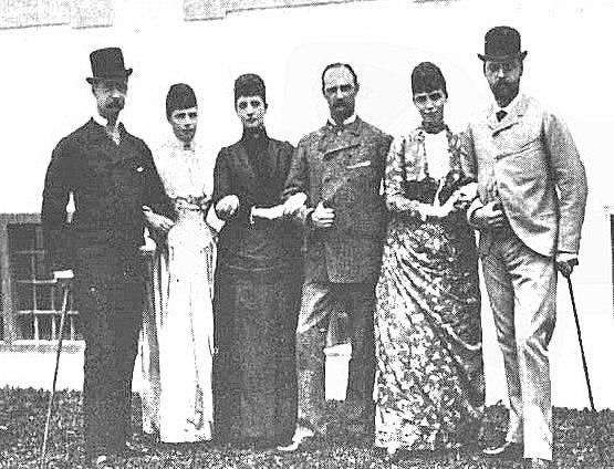 Their parents' Golden Jubilee in 1882