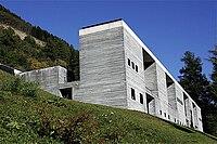 Therme Vals facade, Vals, Graubünden, Switzerland - 20051009.jpg