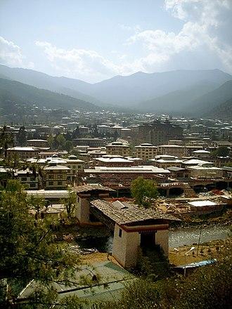 Thimphu - Urban expansion in Thimphu