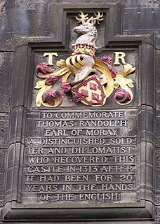 Thomas Randolph, 1st Earl of Moray Earl of Moray, 1332