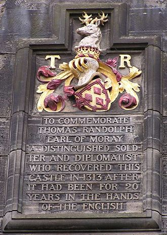 Thomas Randolph, 1st Earl of Moray - Memorial to the Earl of Moray at Edinburgh Castle
